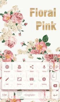 Floral Light Keyboard Theme apk screenshot