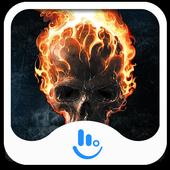Flame Skull Keyboard Theme icon