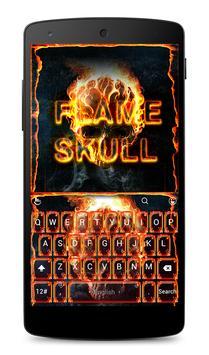 Flame Skull Keyboard Theme poster