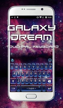 Galaxy Dream Keyboard Theme poster