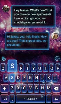 Galaxy Dream Keyboard Theme apk screenshot
