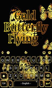 Gold Butterfly Flying poster