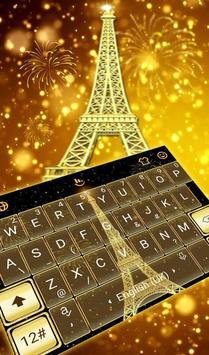Gold Paris poster