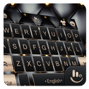 Glod Black Mechanic Hecking Keyboard Theme APK