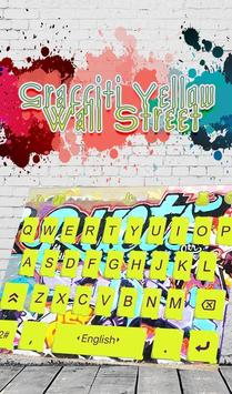 Graffiti Yellow Wall Street Keyboard Theme poster