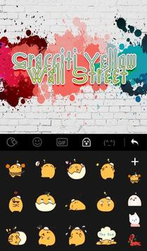 Graffiti Yellow Wall Street Keyboard Theme apk screenshot