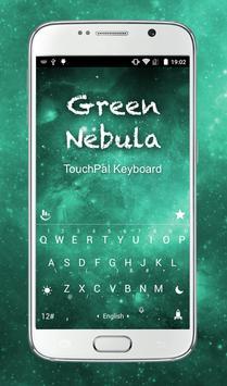 TouchPal Green Nebula Keyboard poster