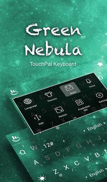 TouchPal Green Nebula Keyboard apk screenshot