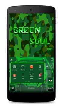Green Soul Keyboard Theme apk screenshot