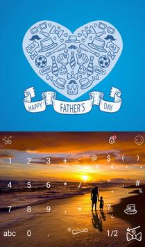 Happy Father's Day Keyboard poster