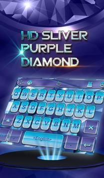 HD Sliver Purple Diamond Keyboard Theme poster