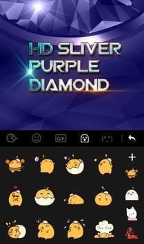 HD Sliver Purple Diamond Keyboard Theme apk screenshot