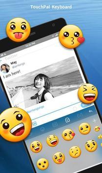 Keyboard Theme For Twitter - Blue messenger apk screenshot