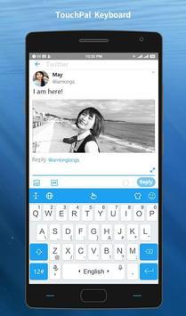 Keyboard Theme For Twitter - Blue messenger poster