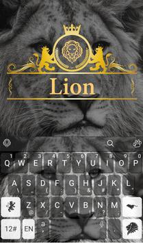 Wild Lion Keyboard Theme poster