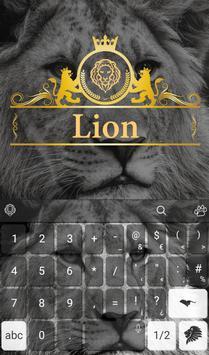 Wild Lion Keyboard Theme screenshot 2