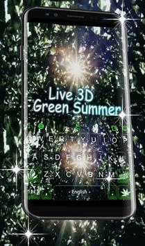 Live 3D Green Summer Keyboard Theme poster