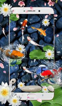 Live 3D Koi Fish Keyboard Theme 海報