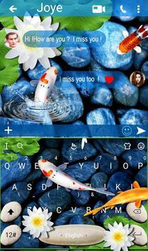 Live 3D Koi Fish Keyboard Theme 截圖 1