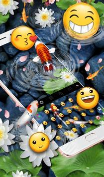 Live 3D Koi Fish Keyboard Theme 截圖 3