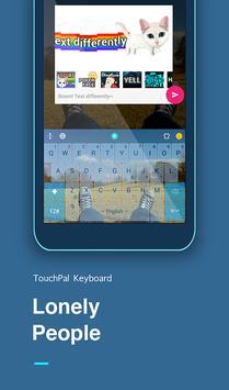 Lonely Emoji Keyboard Theme poster