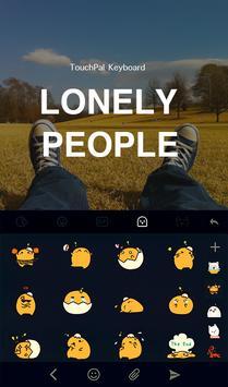 Lonely Emoji Keyboard Theme apk screenshot