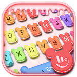 Cute Macaroon Colorful Micky Emoji Keyboard Theme APK