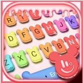 Cute Macaroon Colorful Micky Emoji Keyboard Theme 图标