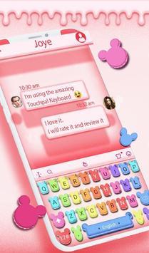 Cute Macaroon Colorful Micky Emoji Keyboard Theme 截图 1