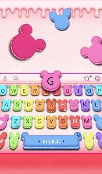 Cute Macaroon Colorful Micky Emoji Keyboard Theme 截图 2