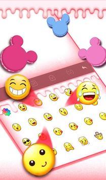 Cute Macaroon Colorful Micky Emoji Keyboard Theme 截图 3