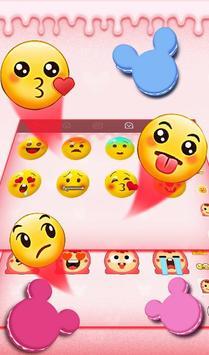 Cute Macaroon Colorful Micky Emoji Keyboard Theme 截图 4