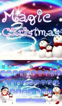 Live 3D Magic Christmas Keyboard Theme poster