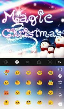 Live 3D Magic Christmas Keyboard Theme screenshot 2