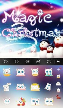 Live 3D Magic Christmas Keyboard Theme screenshot 3