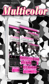 Pink Zebra Keyboard Theme poster