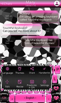 Pink Zebra Keyboard Theme screenshot 2