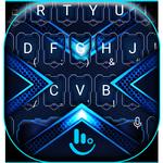 Neon Blue Future Light Tech Keyboard Theme APK