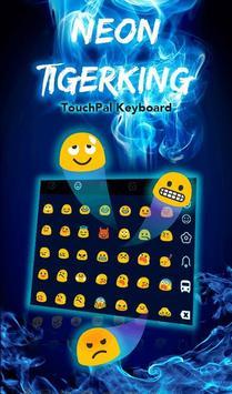 Neon Tiger King Keyboard Theme apk 截圖