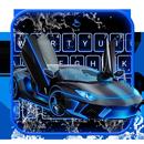 Neon Water Sports Car Keyboard Theme APK