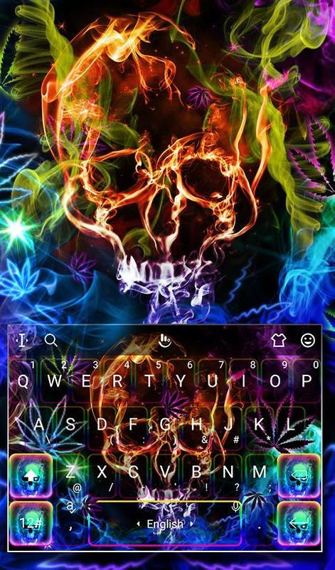 Colorful neon weed backgrounds