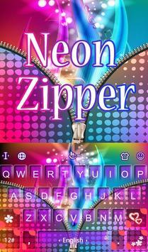 Neon Zipper poster