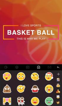 Fire Basketball Keyboard Theme screenshot 3