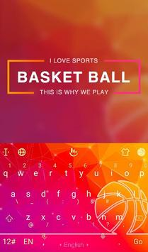 Fire Basketball Keyboard Theme poster