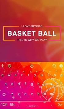 Fire Basketball Keyboard Theme poster