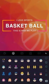 Fire Basketball Keyboard Theme screenshot 2