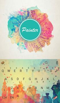 Art Painter Keyboard Theme poster