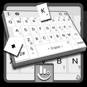 Pearl White Keyboard Theme icon