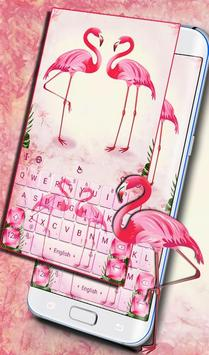 Pink Flamingo Keyboard Theme poster
