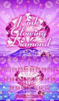 Pink Glowing Diamond poster